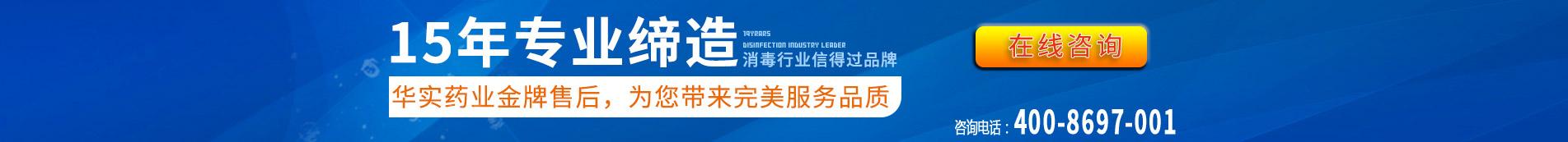 15年专业缔造,消毒设备行业领导品牌厂家,华实药业实力保障,为您带来完美服务品质